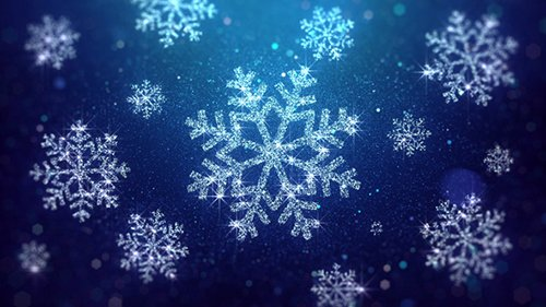 Christmas Snowflakes Blue Background 20983552