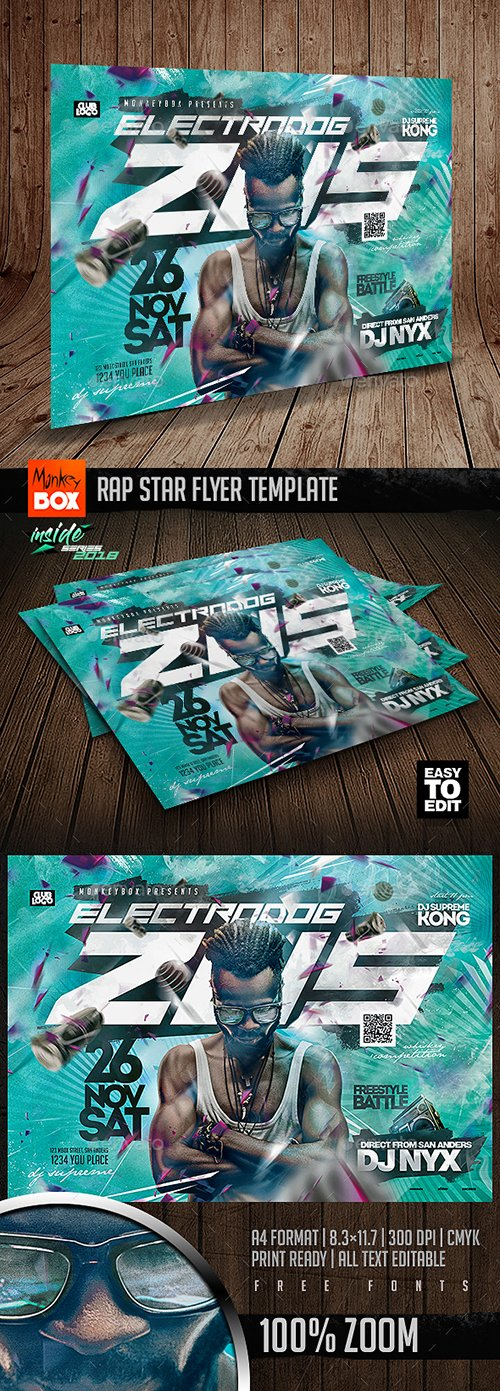 GraphicRiver - Rap Star Flyer Template 22878053