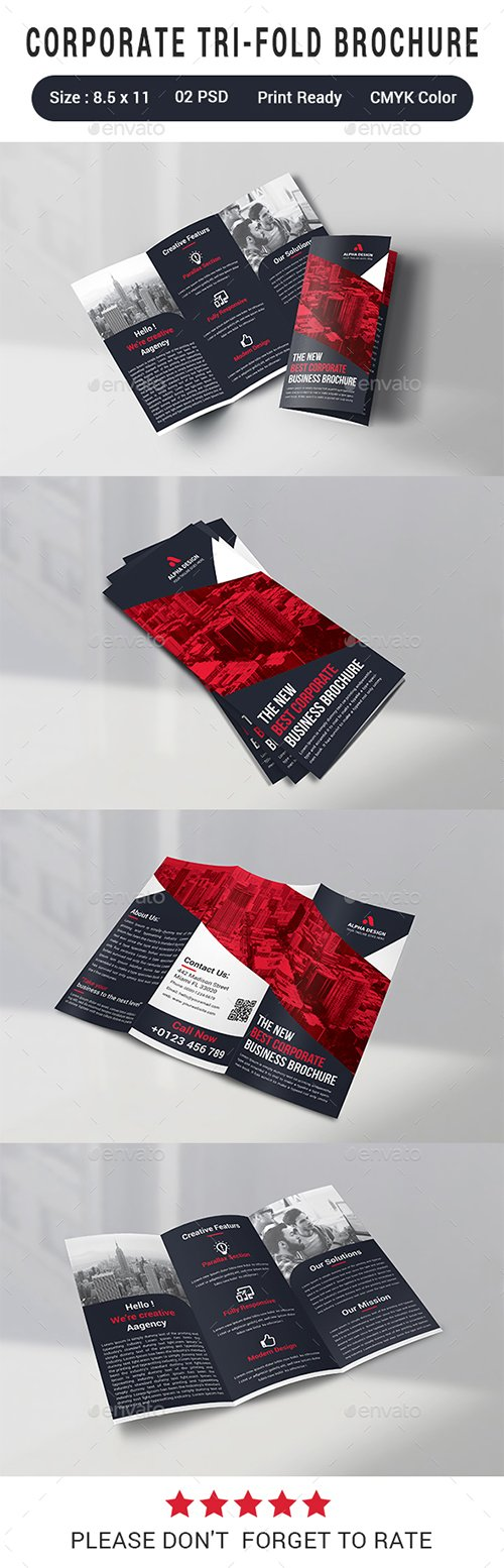 GraphicRiver - Corporate Tri-fold Brochure 22873934