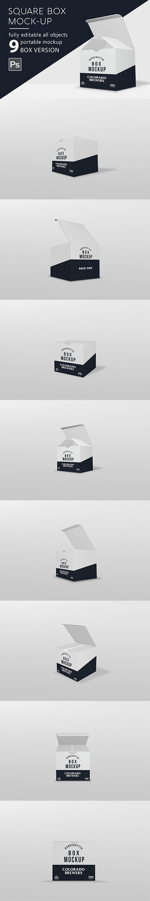 CreativeMarket - Box Mockup Square 2940718