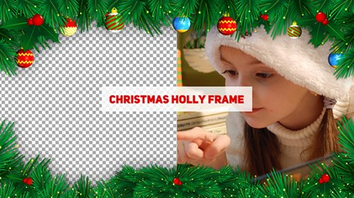 Christmas Holly Frame 20963550