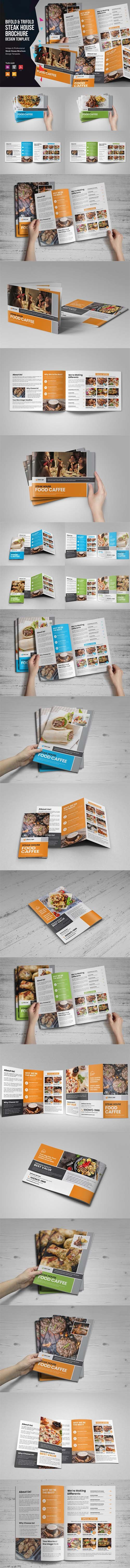 Food Menu Bifold-Trifold Brochure v3