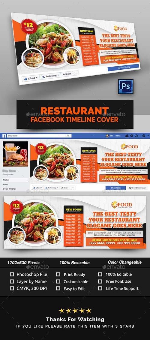 GraphicRiver - Restaurant Facebook Cover 22882504