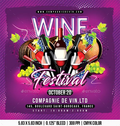 GraphicRiver - Wine Festival 22596977