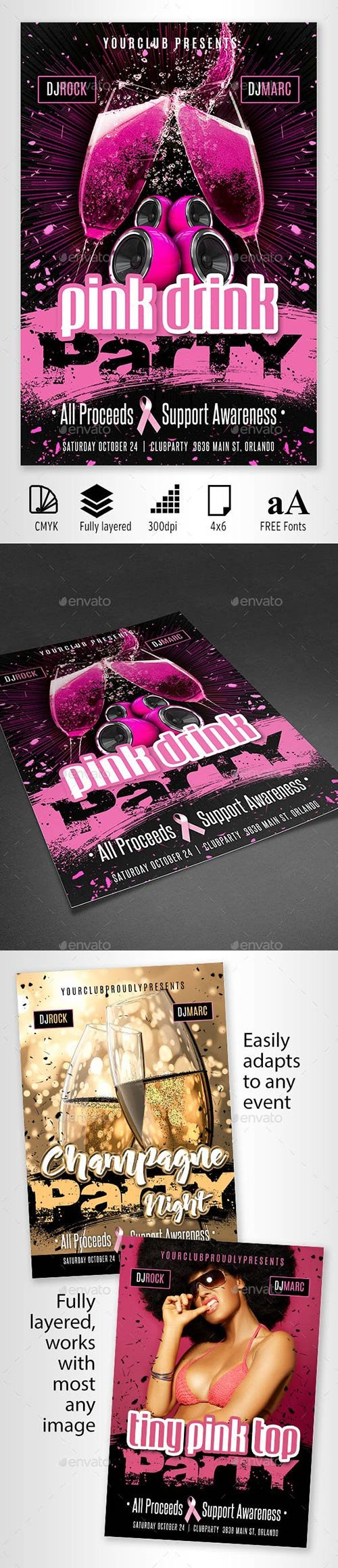 GraphicRiver - Pink Drink flyer 22600284