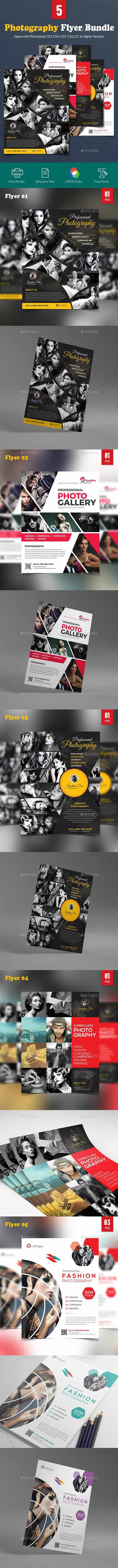 GraphicRiver - Photography Flyer Bundle 22630643