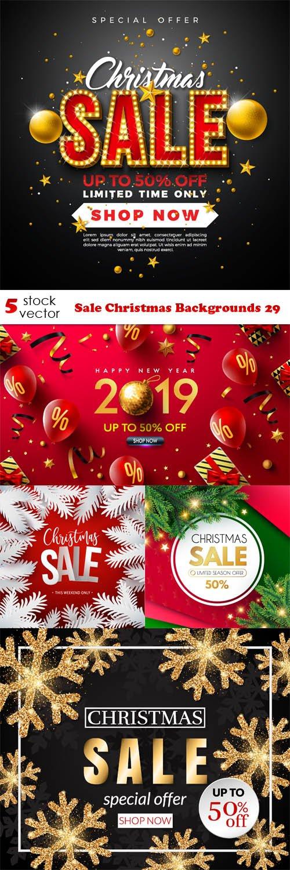 Vectors - Sale Christmas Backgrounds 29
