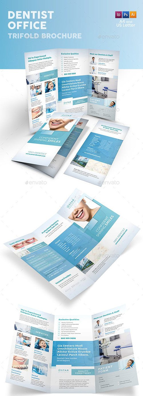 GraphicRiver - Dentist Office Trifold Brochure 6 22590211