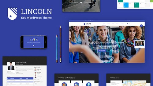 ThemeForest - Lincoln v4.2.0 - Education Material Design WordPress Theme - 12857399