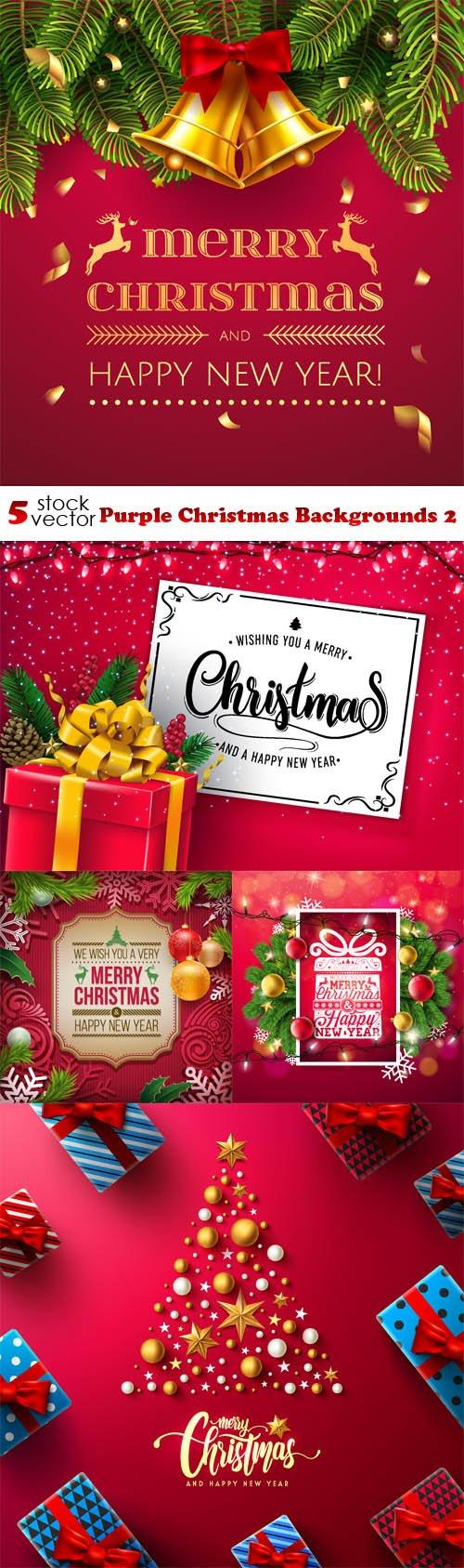 Vectors - Purple Christmas Backgrounds 2