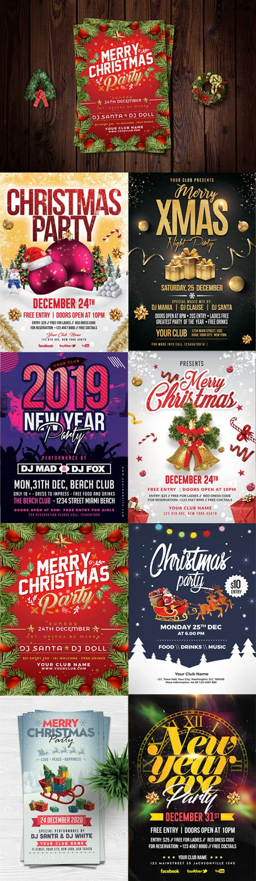Christmas & New Year Flyers Collection 2