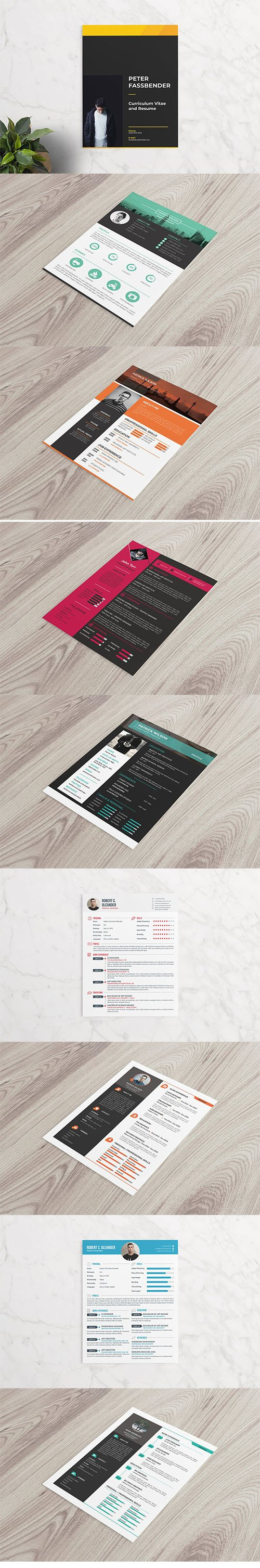 9 Resume Templates Bundle
