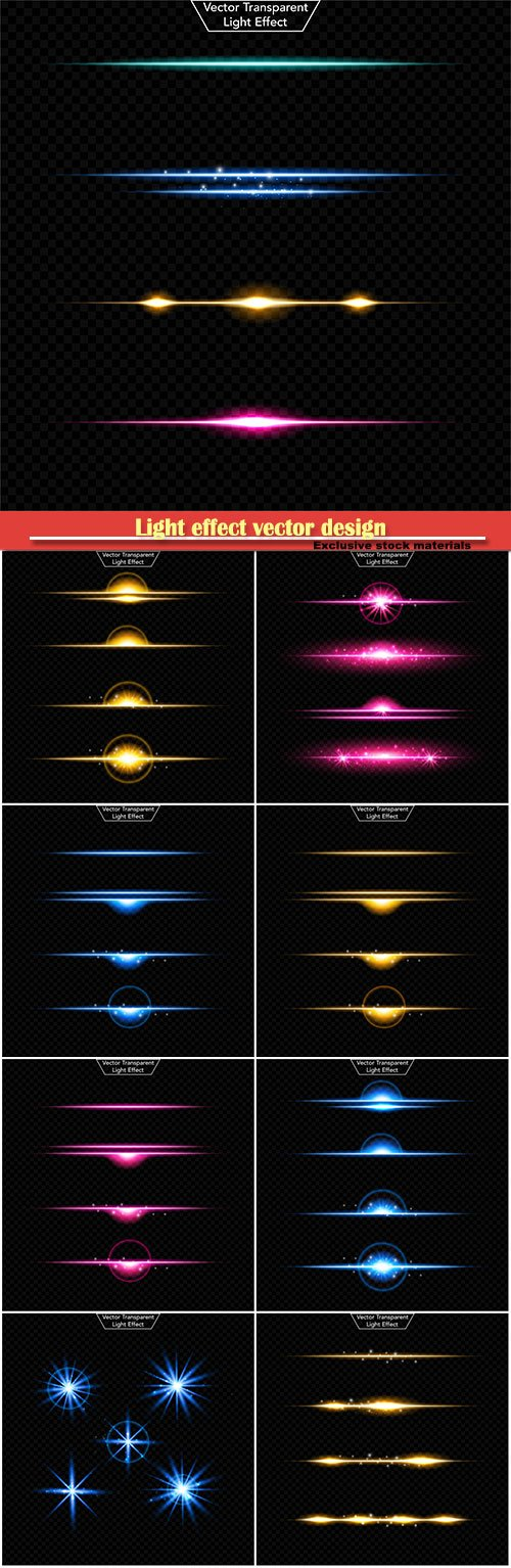 Light effect vector design
