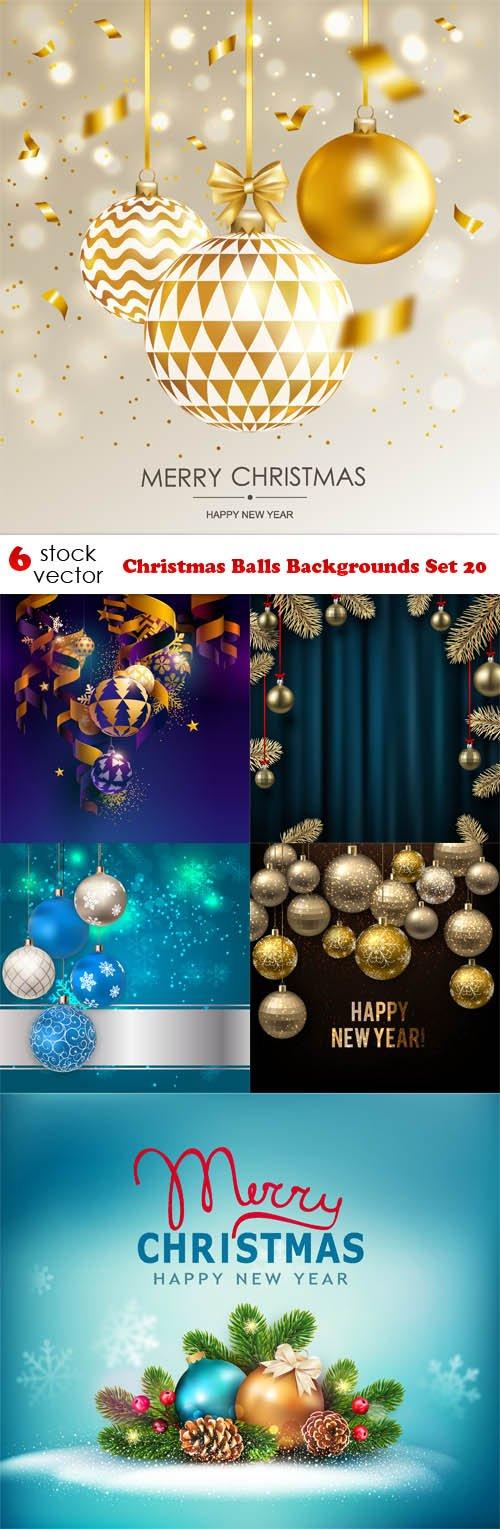 Vectors - Christmas Balls Backgrounds Set 20