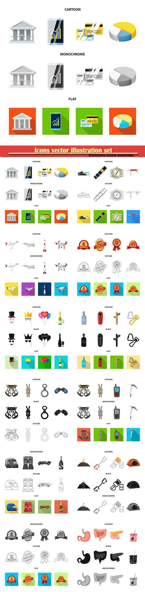 Icons vector illustration set # 11