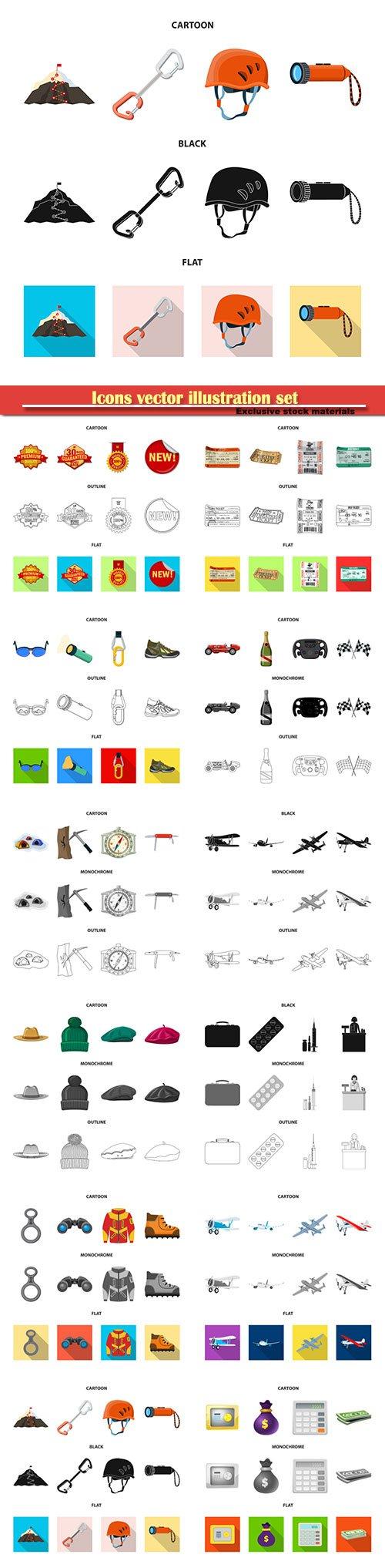 Icons vector illustration set # 10
