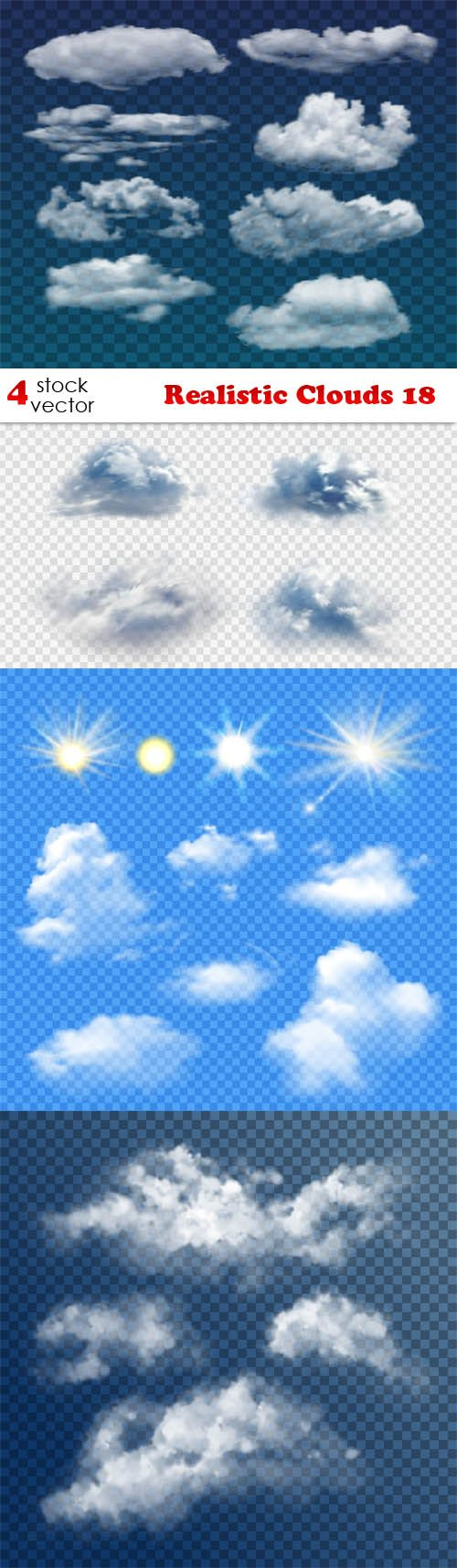 Vectors - Realistic Clouds 18