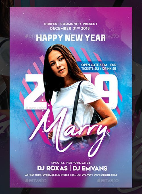 GraphicRiver - New Year Dj Flyer Templates 22674551