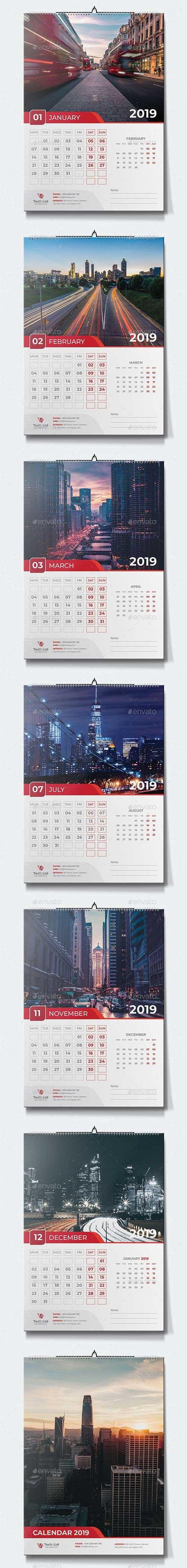 GraphicRiver - Calendar 2019 22685783