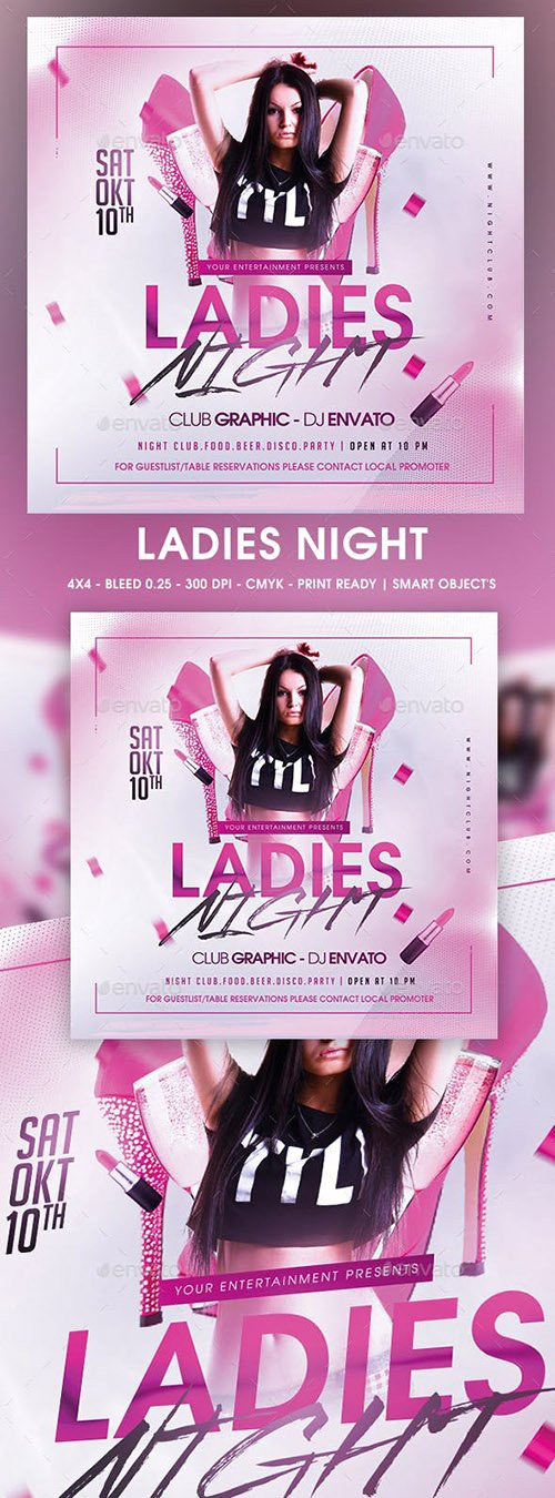 GraphicRiver - Ladies Night 22651983
