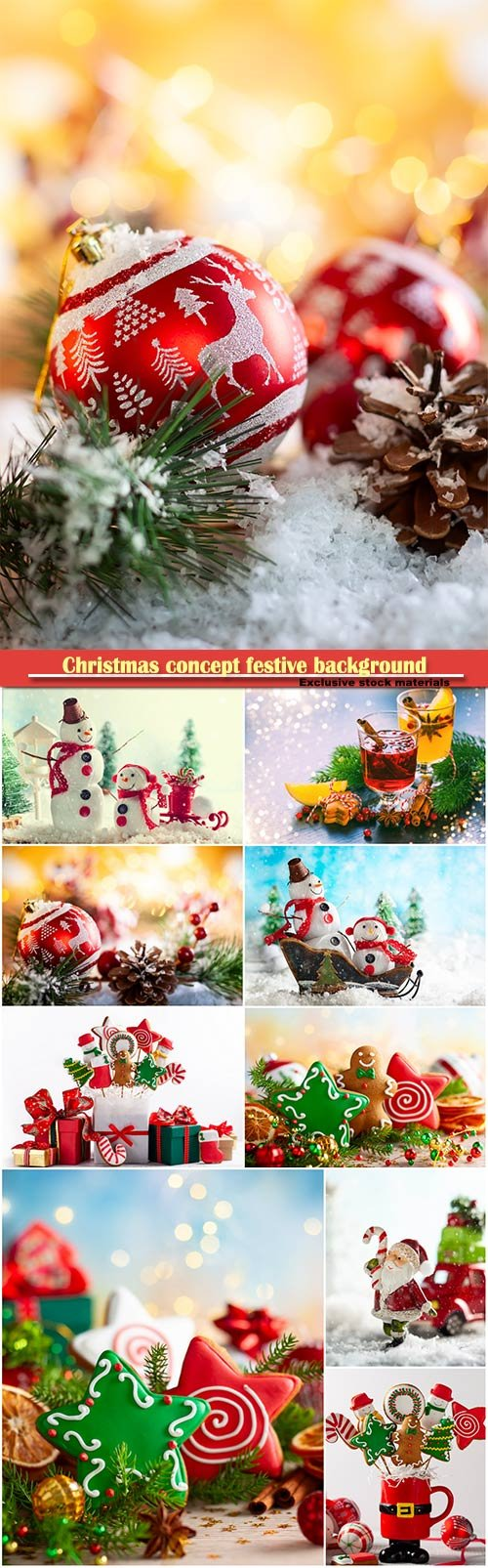 Christmas concept festive background