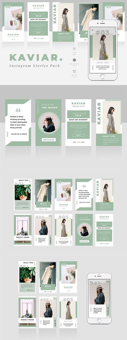 Kaviar Instagram Stories Template