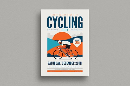 Cycling Event Flyer PSD