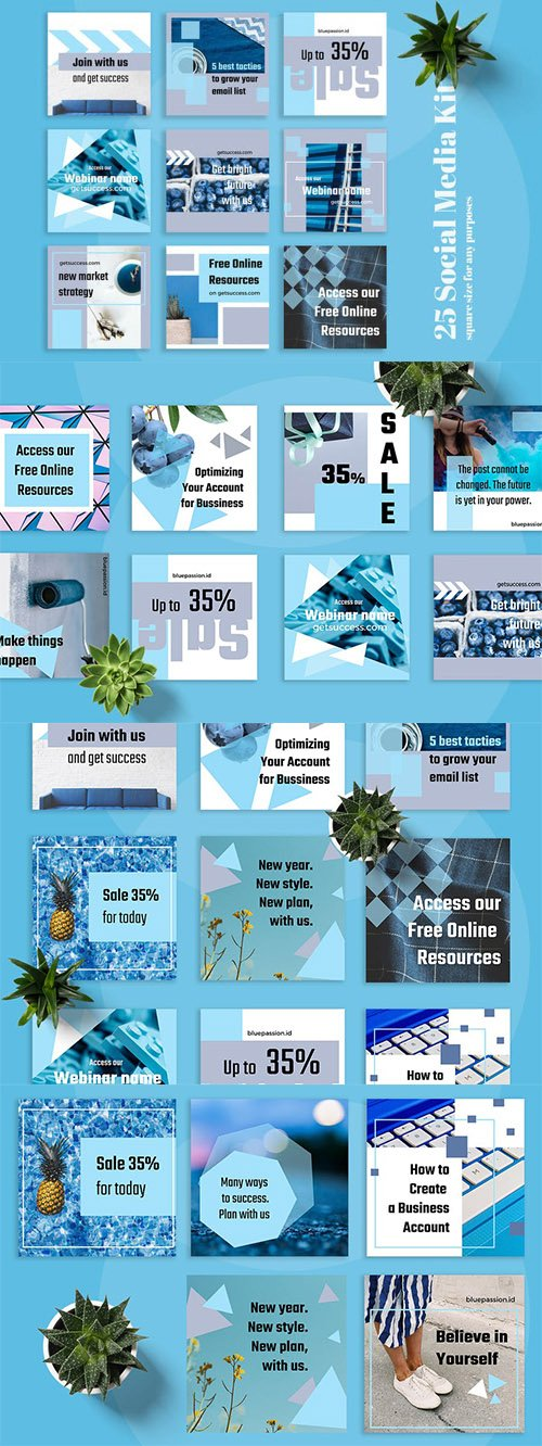 Blue Passion Social Media Kit