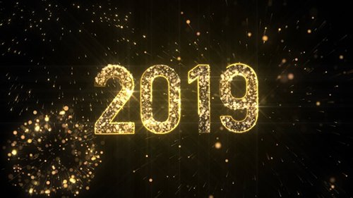 New Year 2019 Gold Background 23065647