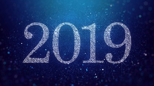 New Year 2019 Blue Background 23059945