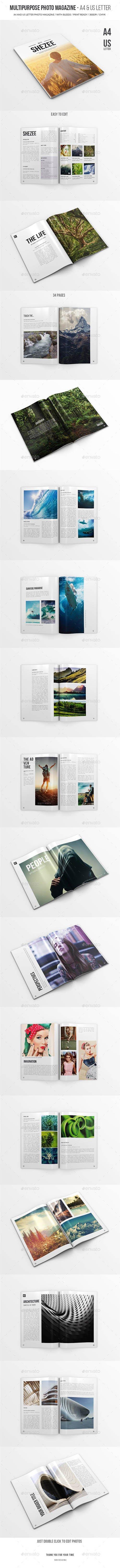Multipurpose Photo Magazine - A4 & US Letter 19587429