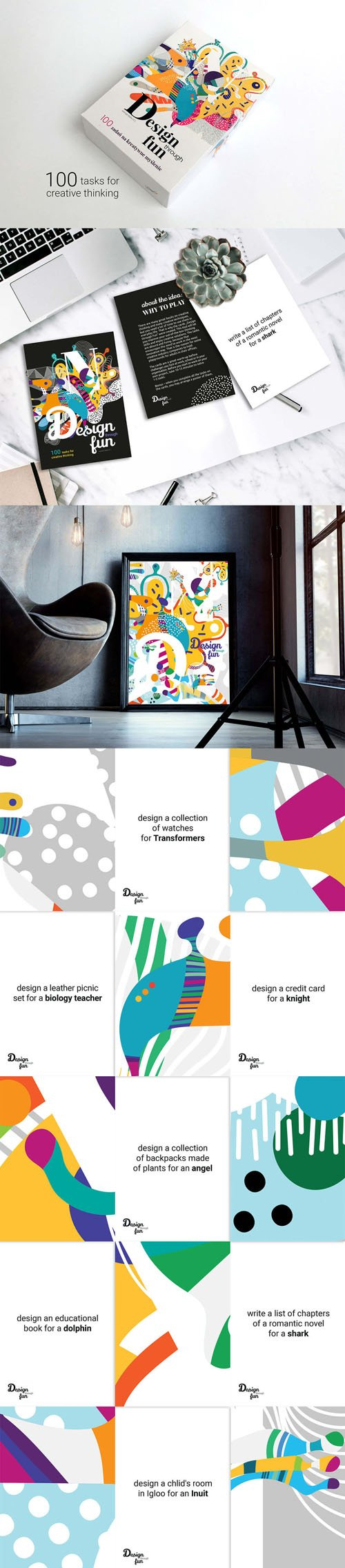 100 Colorful Creative Cards
