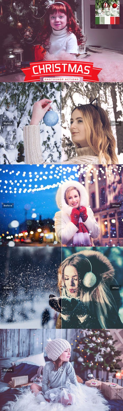 6 Christmas Photoshop Actions
