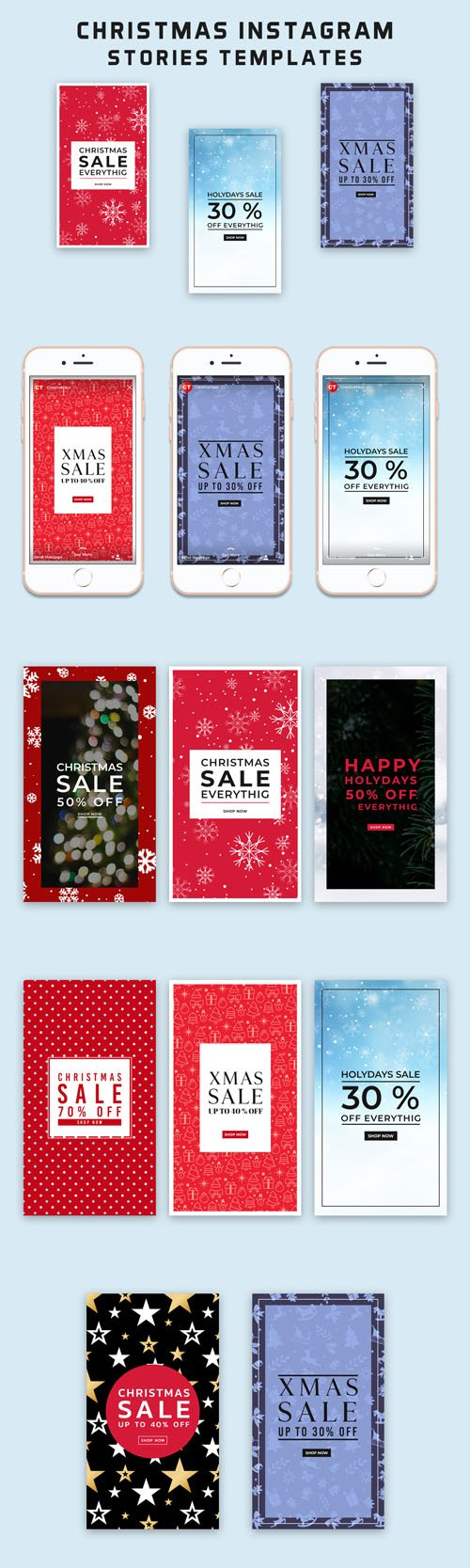 Christmas Instagram Stories PSD Templates