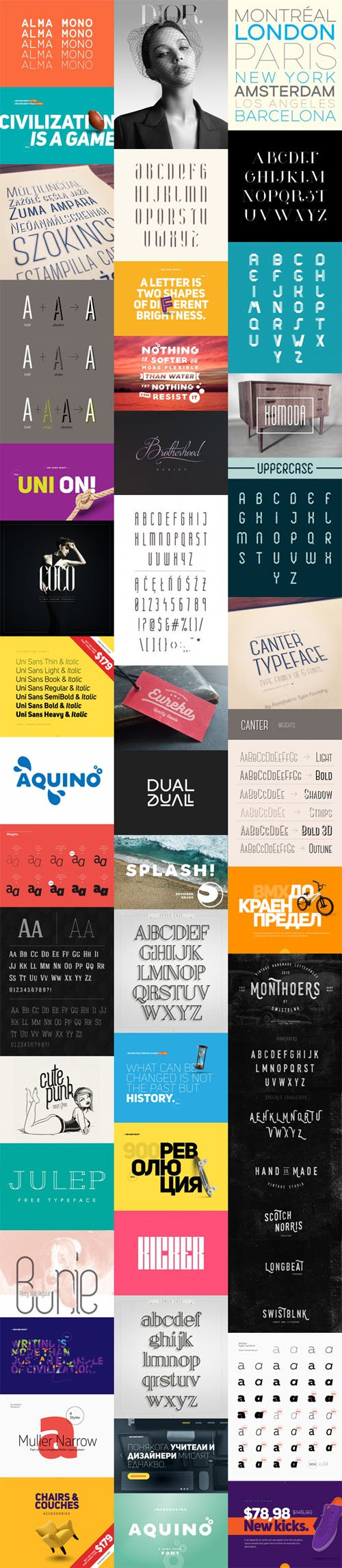 20 Modern & Uniquely Fonts