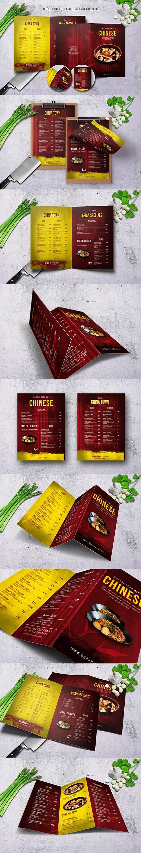 Chinese A4 & US Letter Food Menu Bundle