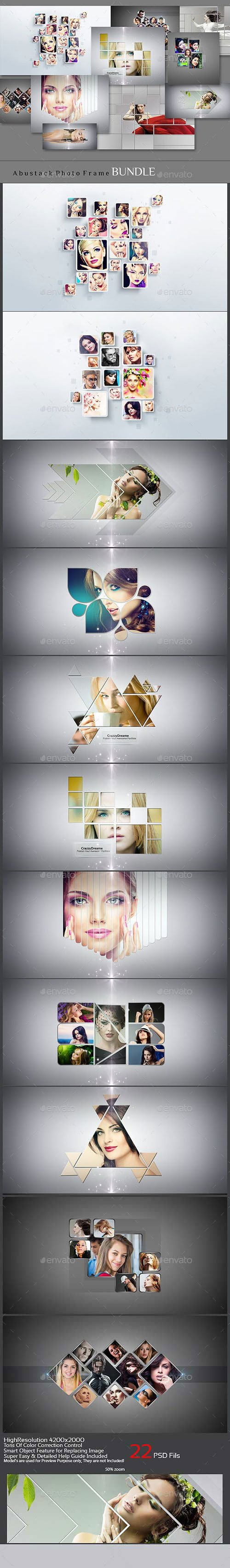 Abstrakt Photo Frame Bundle 12321527