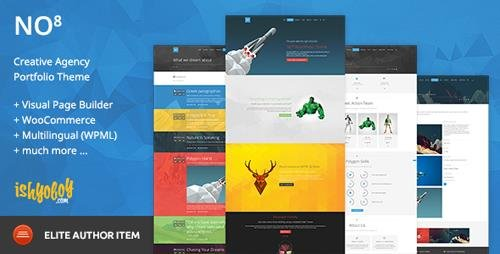 ThemeForest - NO8 WP v2.2 - Creative Agency Portfolio Theme - 9552676