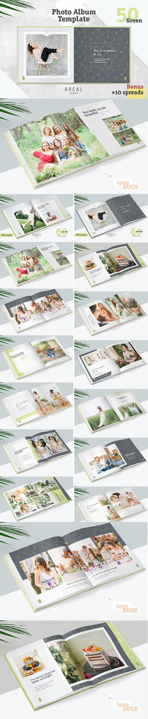 CM - Photo Album Template - Green 1357532