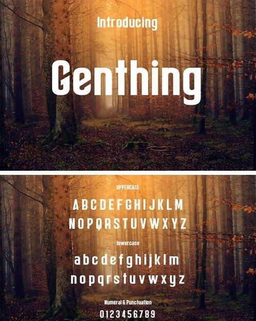 Genthing Font