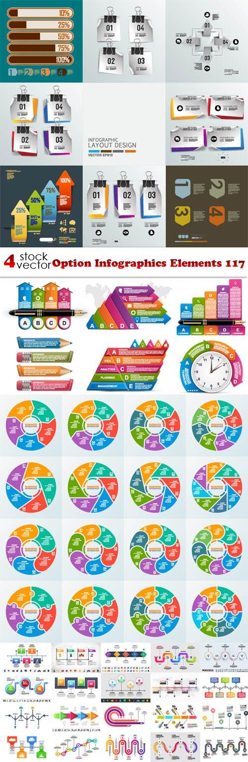 Vectors - Option Infographics Elements 117