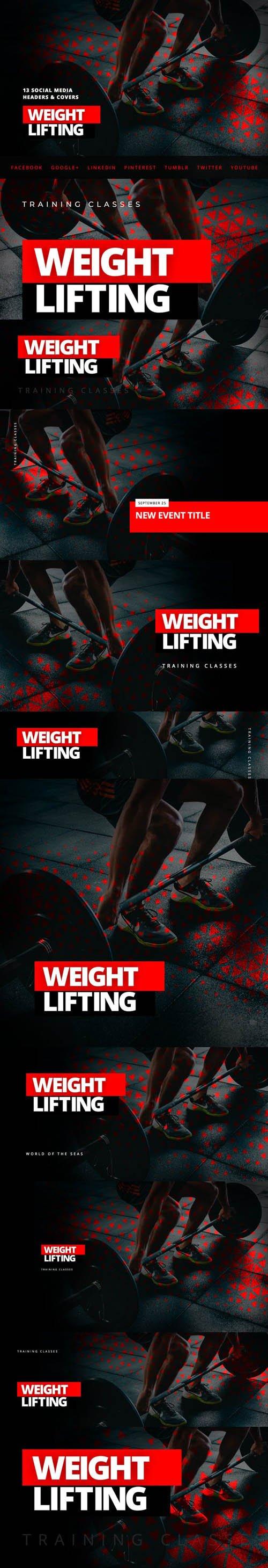 Weightlifting Fitness - Social Media Kit
