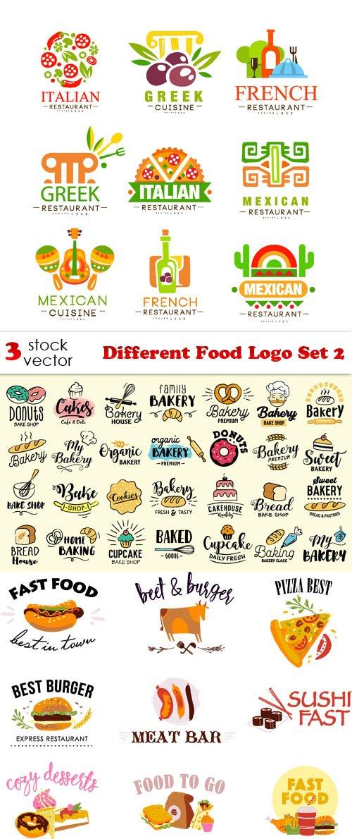 Vectors - Different Food Logo Set 2