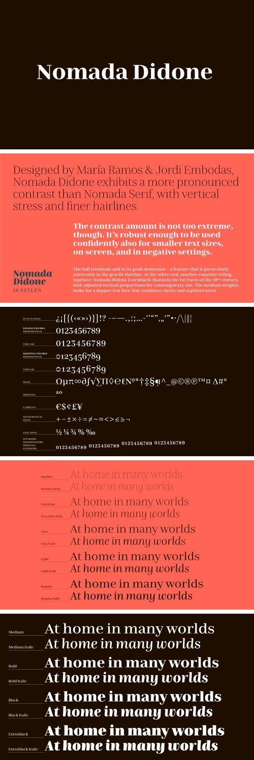 Nomada Didone Font Family