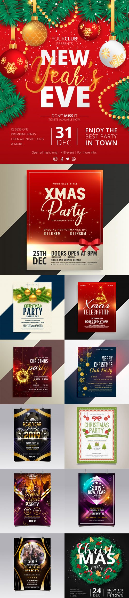 Christmas & New Year Flyers Collection 4