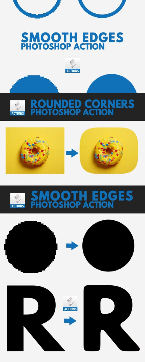 Smooth Edges Action for Photoshop