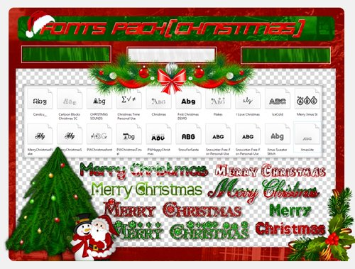 20 Christmas Fonts Collection