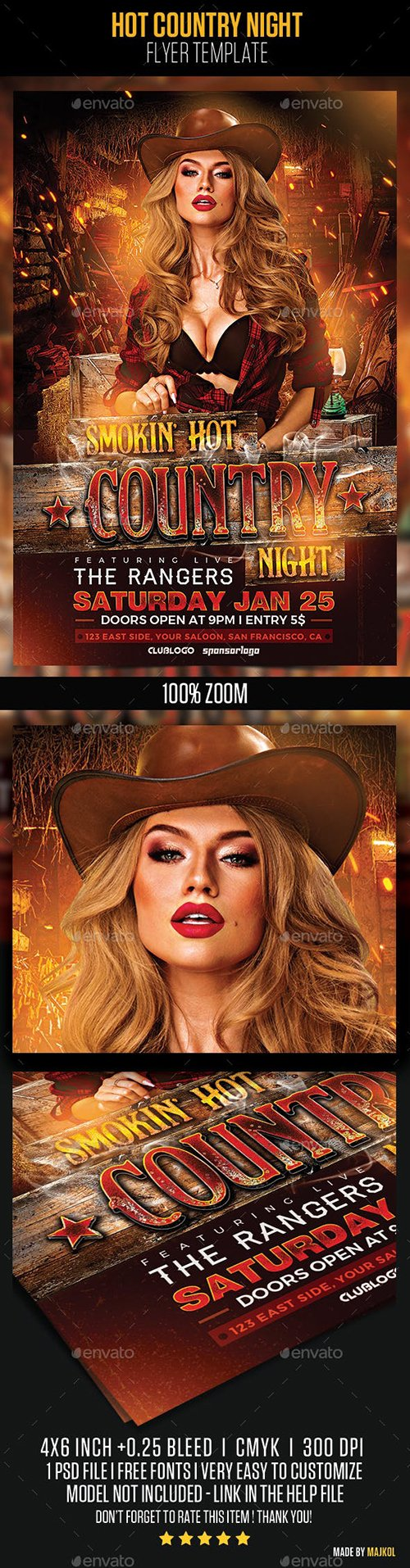 GraphicRiver - Hot Country Night Flyer Template 22997232