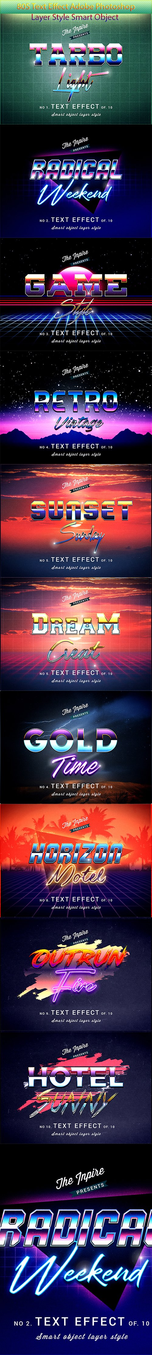 GraphicRiver - 80s Text Effects Bundle 23044555
