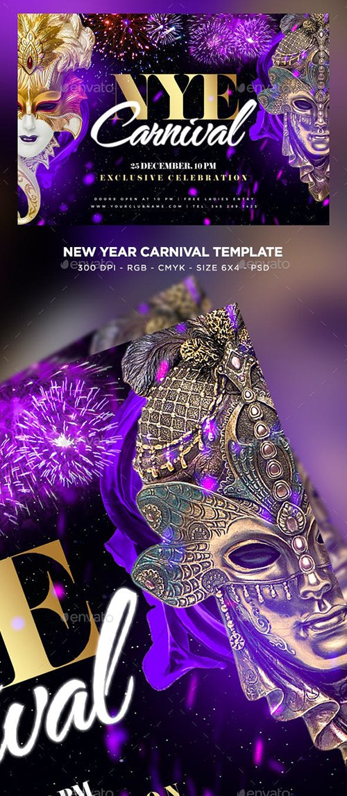 GraphicRiver - New Year Carnival Flyer 23002025